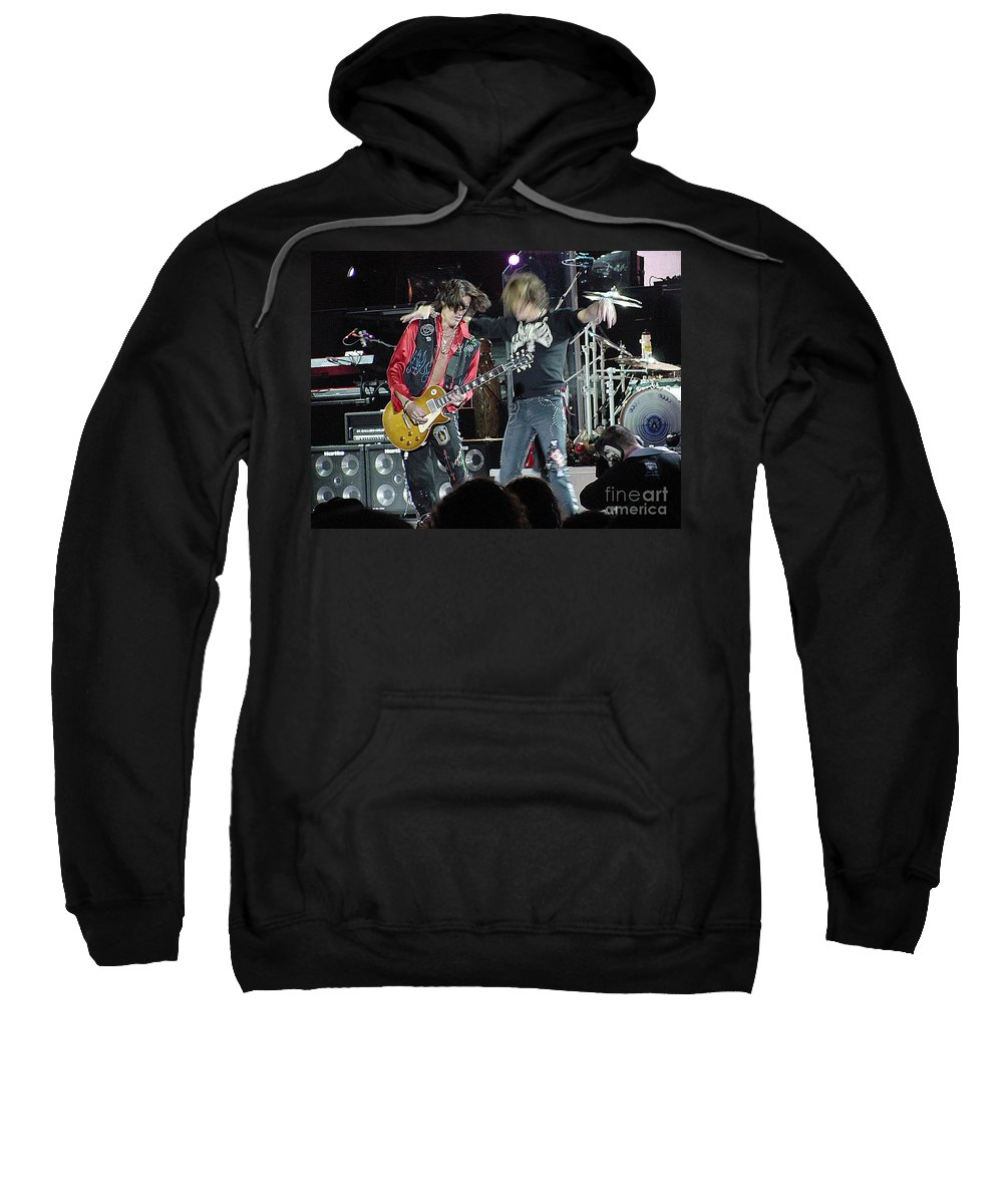 Aerosmith Sweatshirt featuring the photograph Aerosmith - Joe Perry -dsc00182-2-1 by Gary Gingrich Galleries