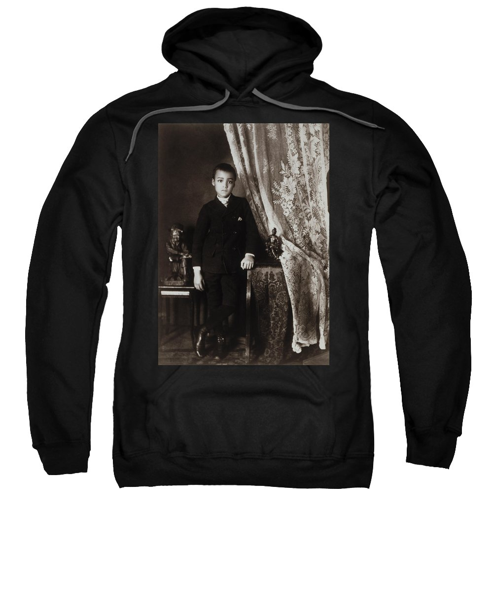 1899 Sweatshirt featuring the photograph African American Boy, C1899 by Granger