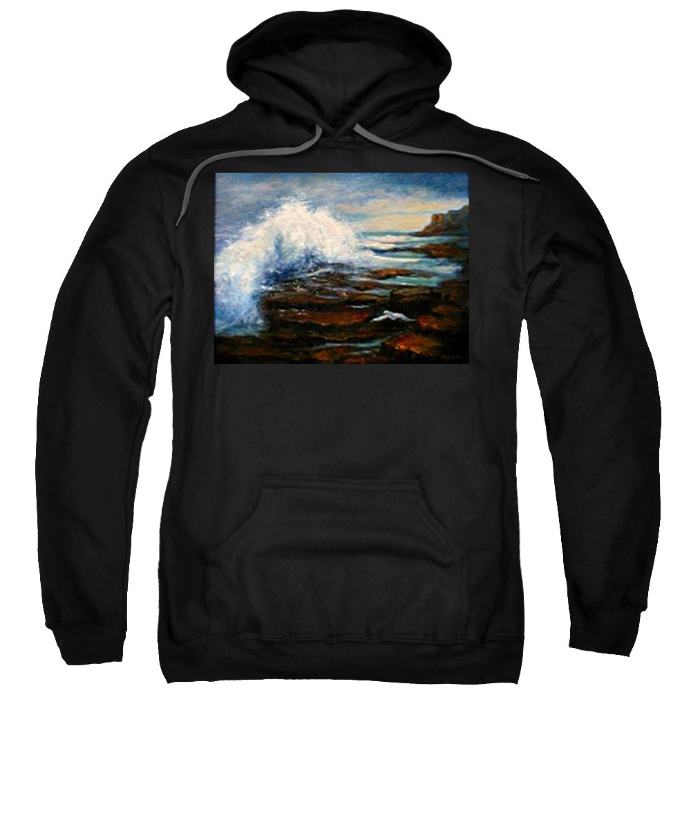 Seascape Sweatshirt featuring the painting After THe Storm by Gail Kirtz