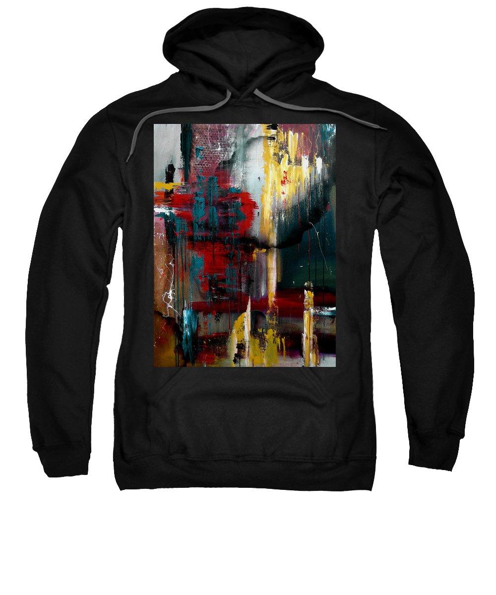 Pop Art Sweatshirt featuring the painting Agree To Disagreeby Fidostudio by Tom Fedro - Fidostudio