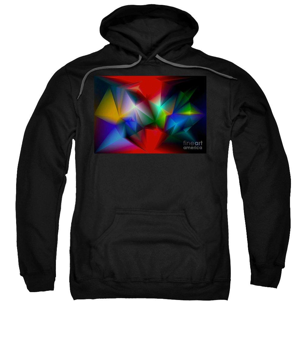 Angel Sweatshirt featuring the digital art Aindrea by Raymel Garcia