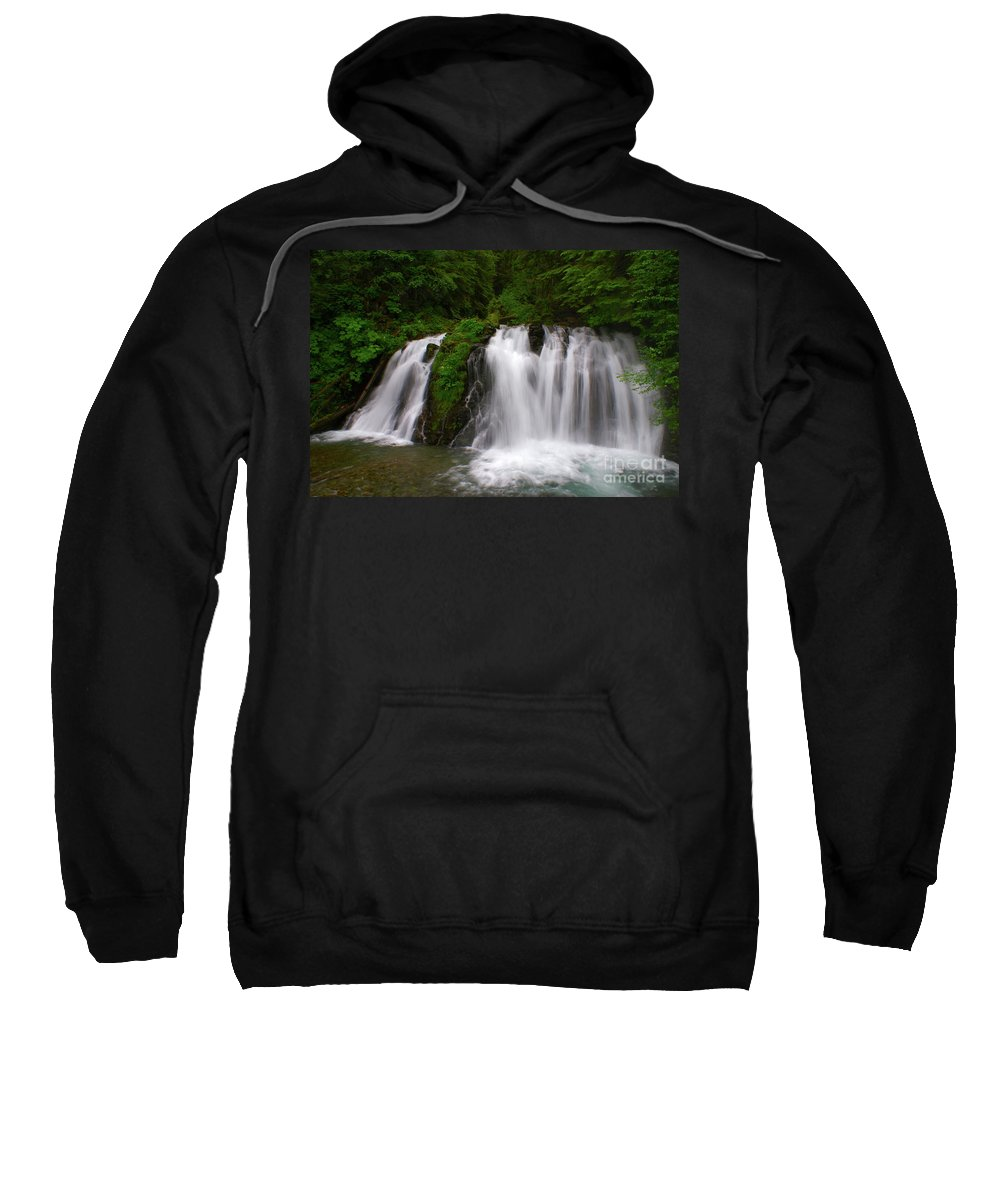 Waterfall Sweatshirt featuring the photograph Alaska Paradise by Kelly Black