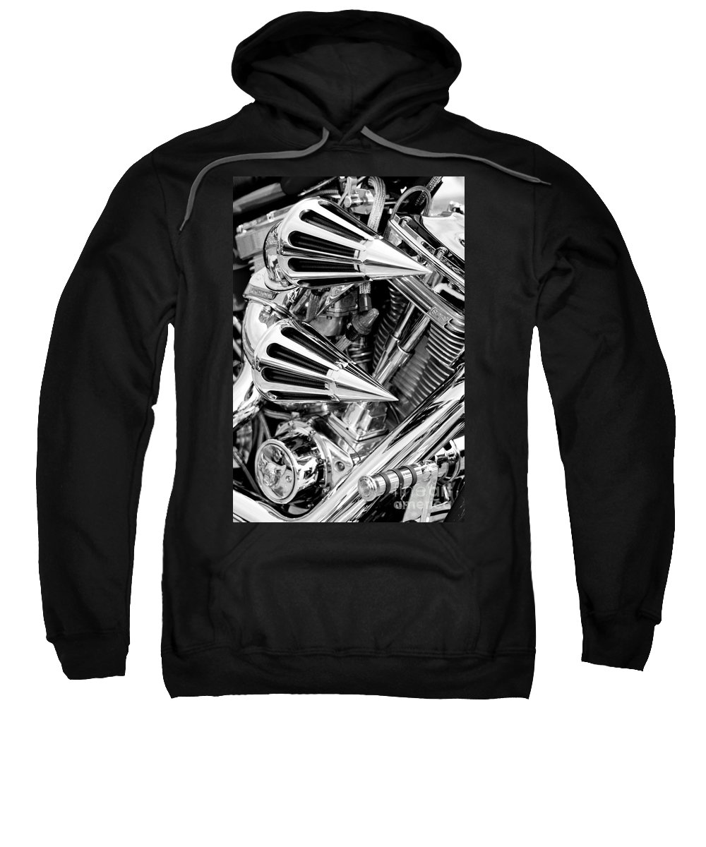 Chrome Sweatshirt featuring the photograph All Chrome Chopper by Paul W Faust - Impressions of Light