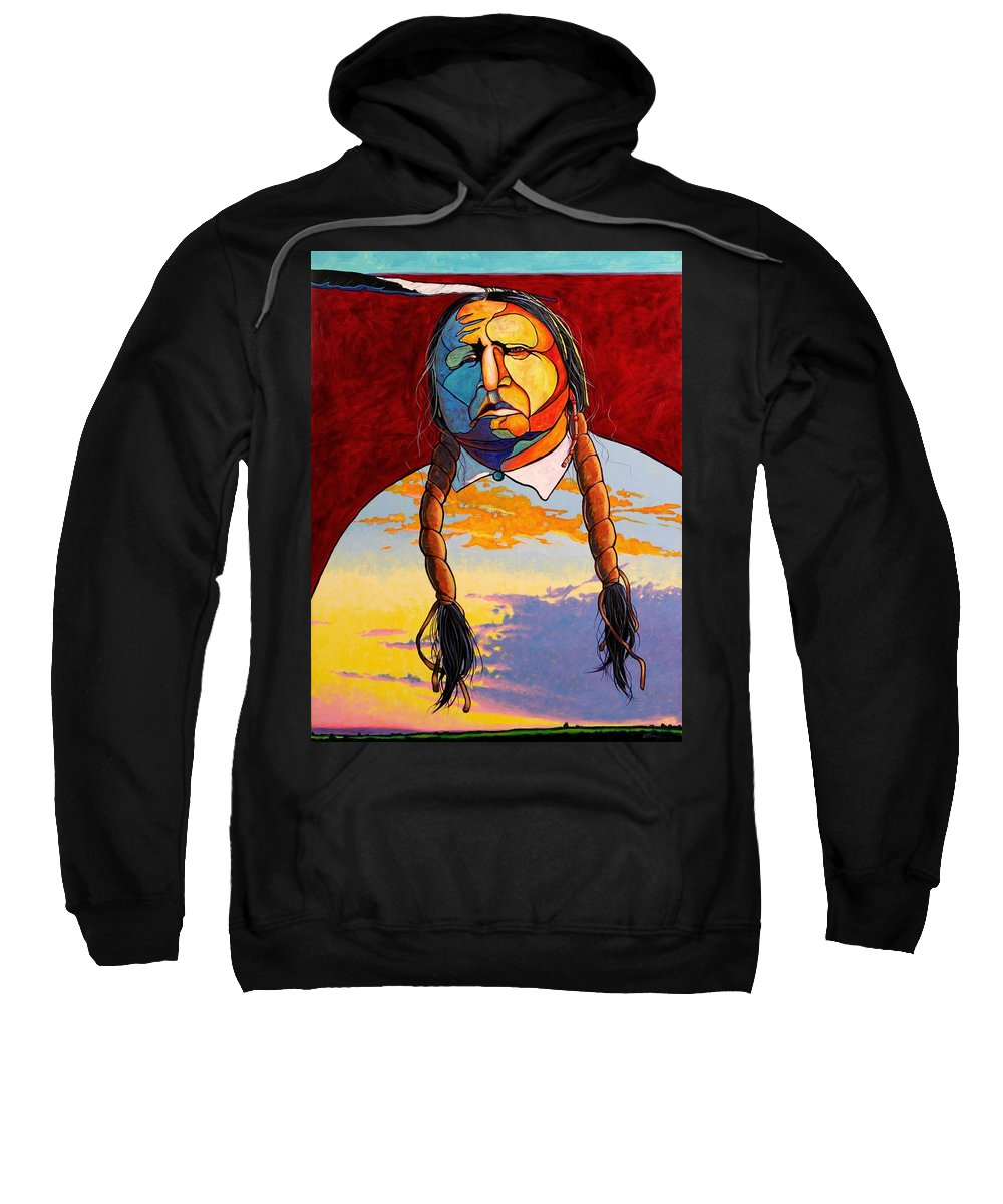 Spiritual Sweatshirt featuring the painting All That I Am by Joe Triano