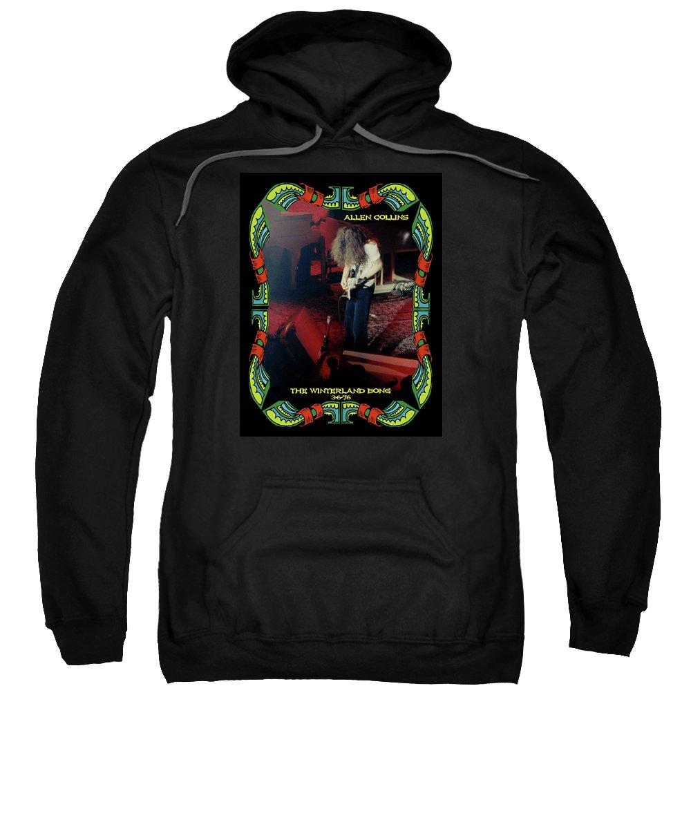 Allen Collins Sweatshirt featuring the photograph A C Winterland Bong 6 by Ben Upham