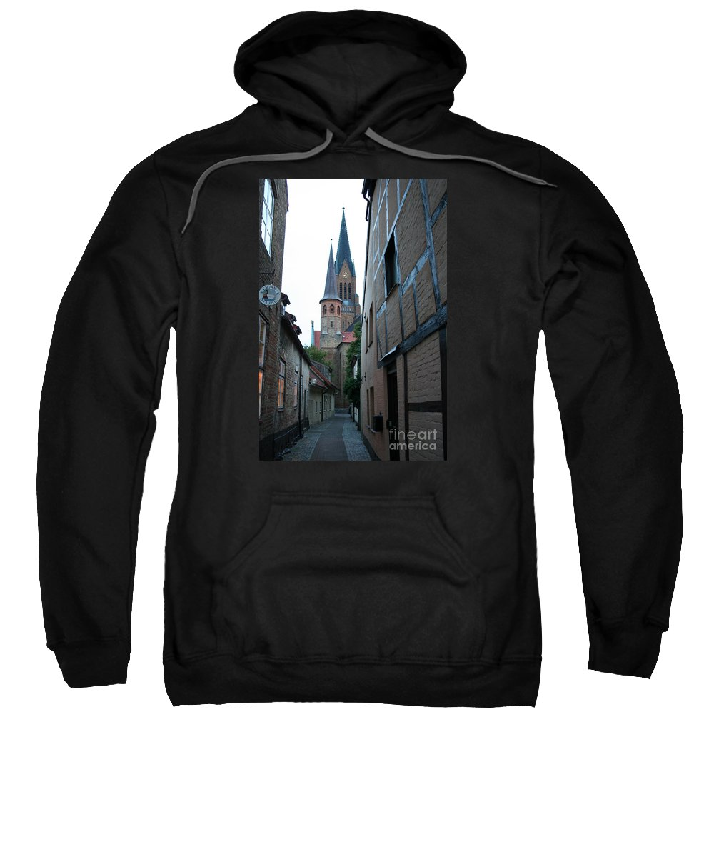 Alley Sweatshirt featuring the photograph Alley In Schleswig - Germany by Christiane Schulze Art And Photography