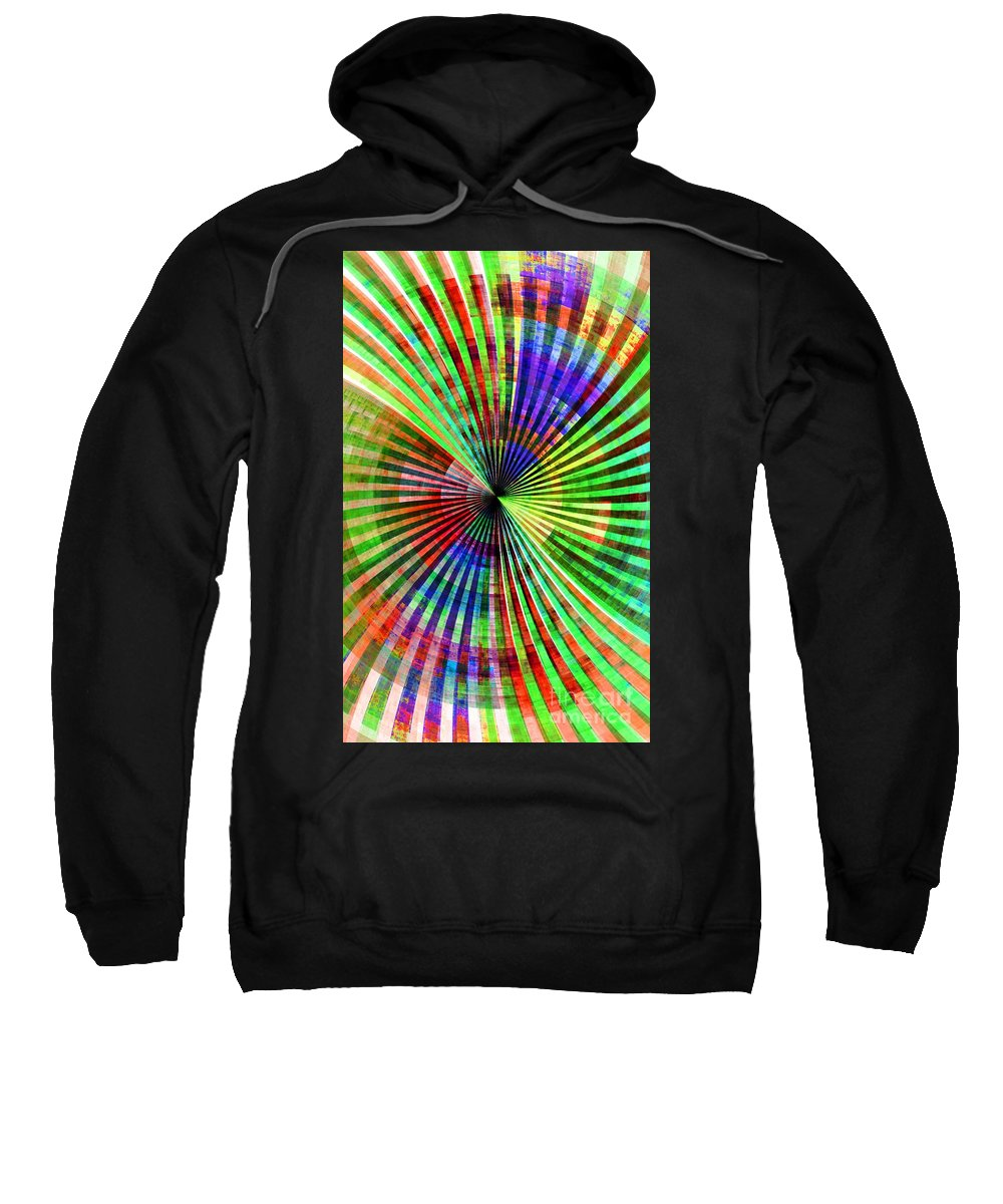 Abstract Sweatshirt featuring the digital art Almond Eyes And Yellow Thighs by Brian Raggatt