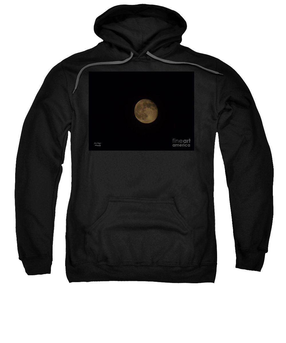 Moon Sweatshirt featuring the photograph Almost Full 2 by Jennifer Lavigne