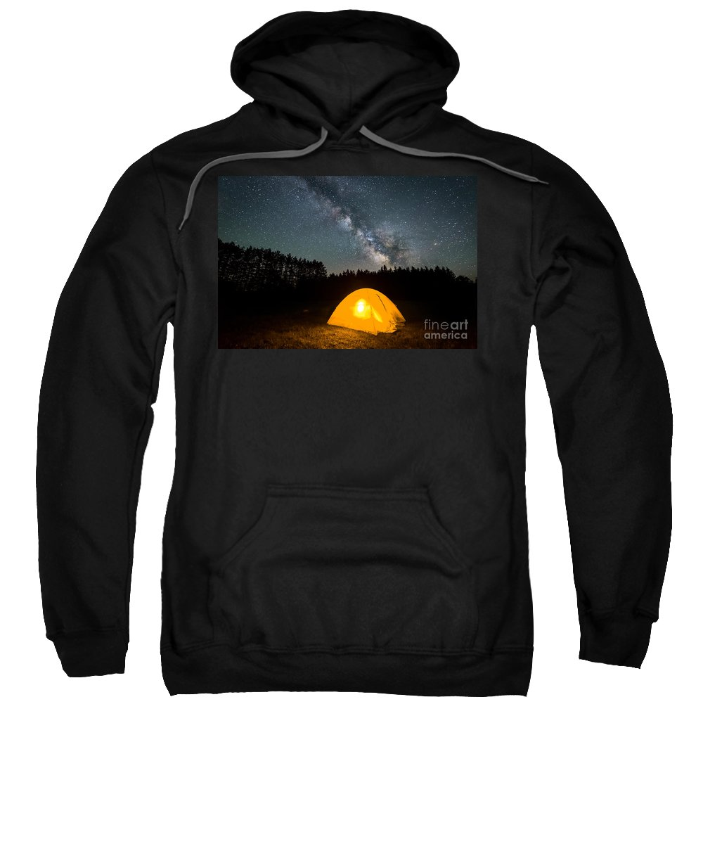 Tree Sweatshirt featuring the photograph Alone Under The Stars by Michael Ver Sprill