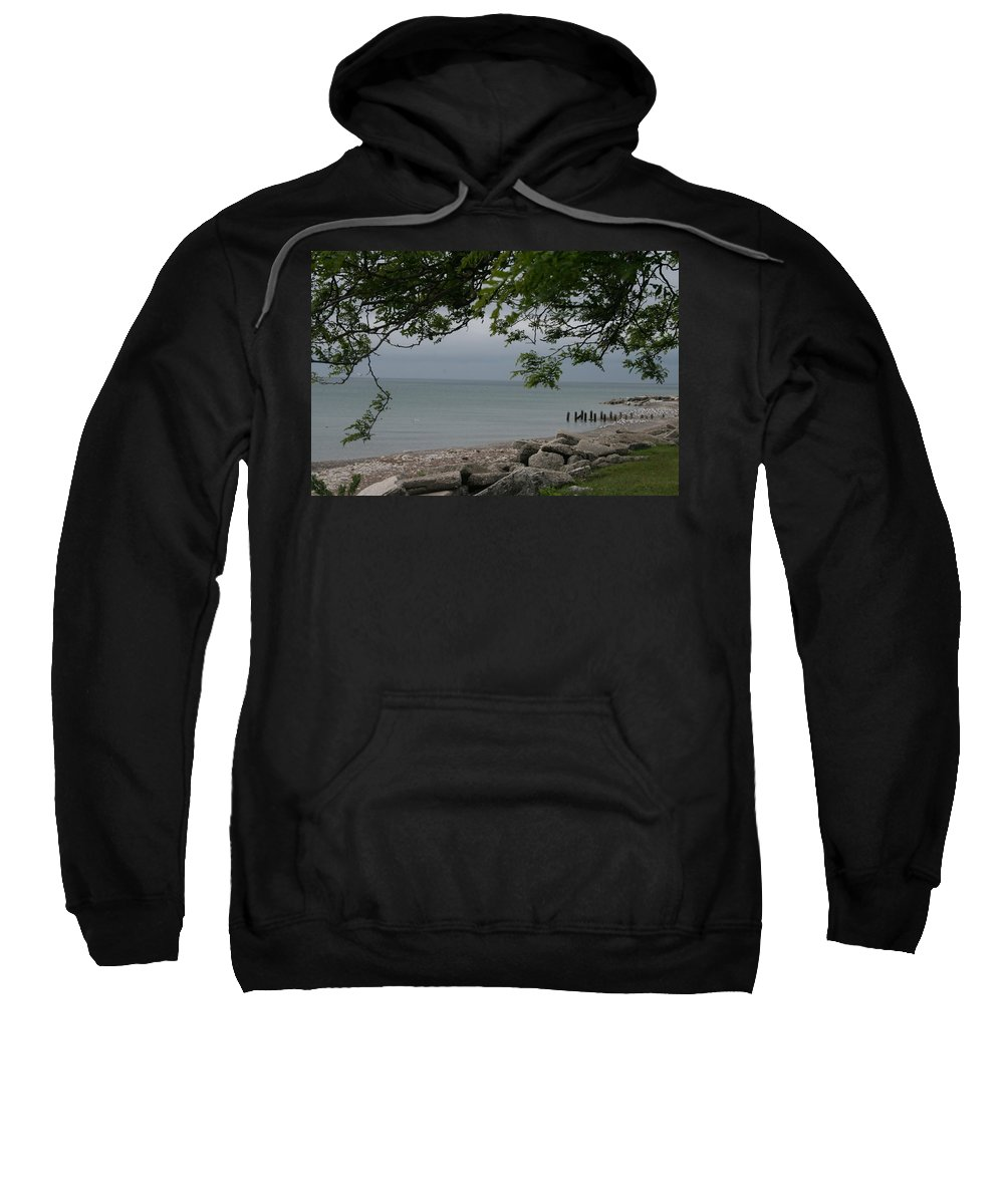 Landscape Sweatshirt featuring the photograph Along The Shore by Kay Novy