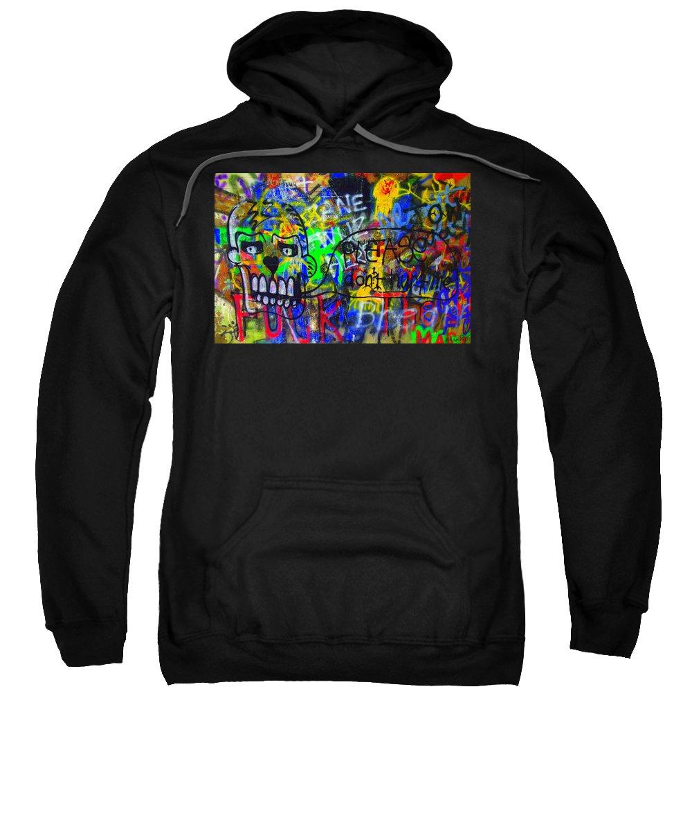 American Graffiti 15 - Crack Head Sweatshirt featuring the photograph American Graffiti 15 - Crack Head by Edward Smith