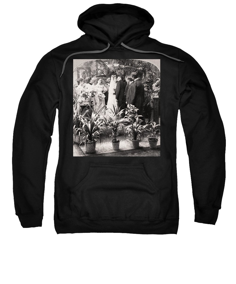 1900 Sweatshirt featuring the photograph American Wedding, 1900 by Granger