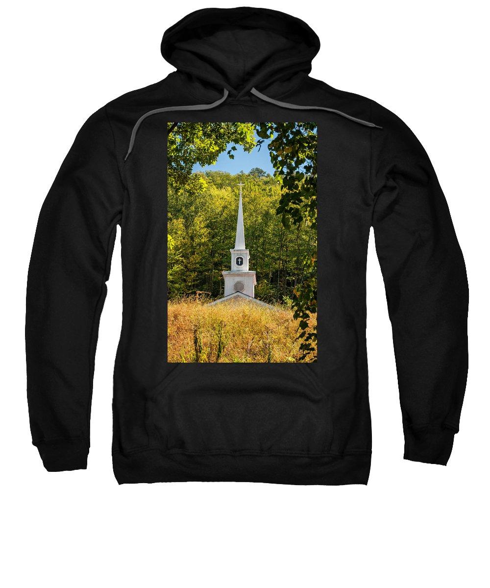 Church Sweatshirt featuring the photograph Amidst The West Virginia Woods by Steve Harrington