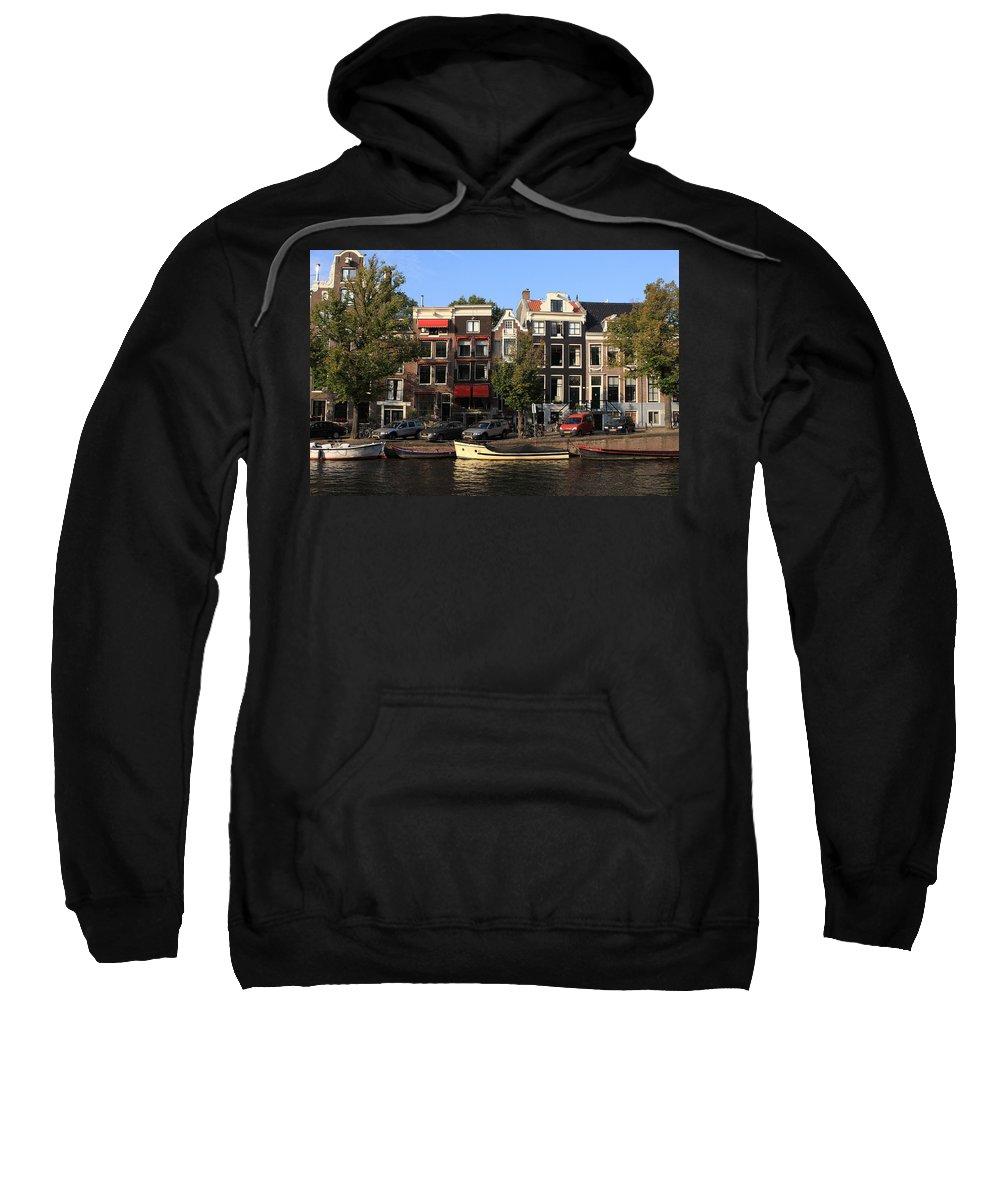 Amsterdam Sweatshirt featuring the photograph Amsterdam Canal by Aidan Moran