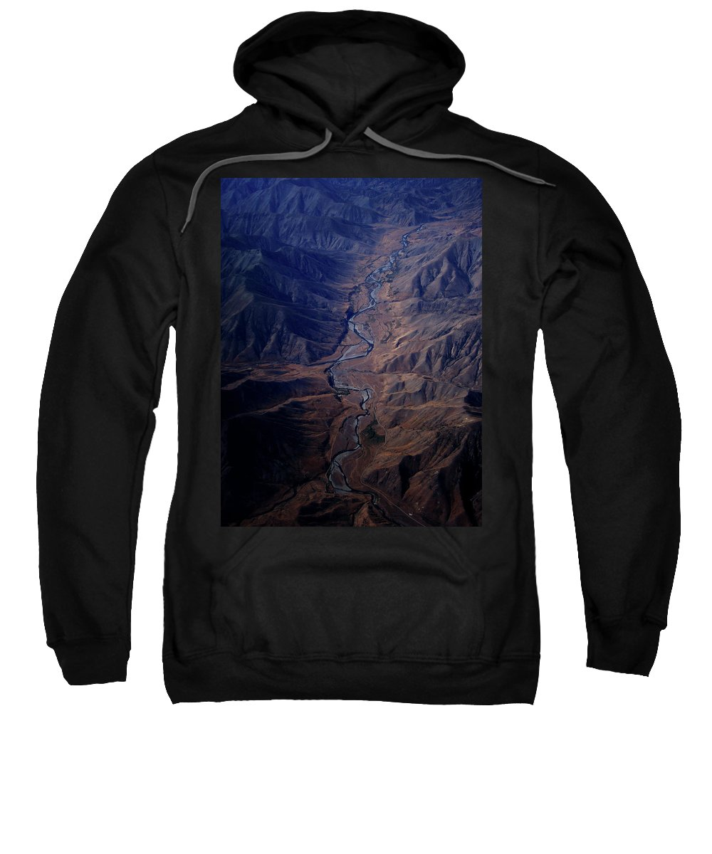 Aerial View Sweatshirt featuring the photograph An Aerial View Of Winding Rivers by Elyse Butler
