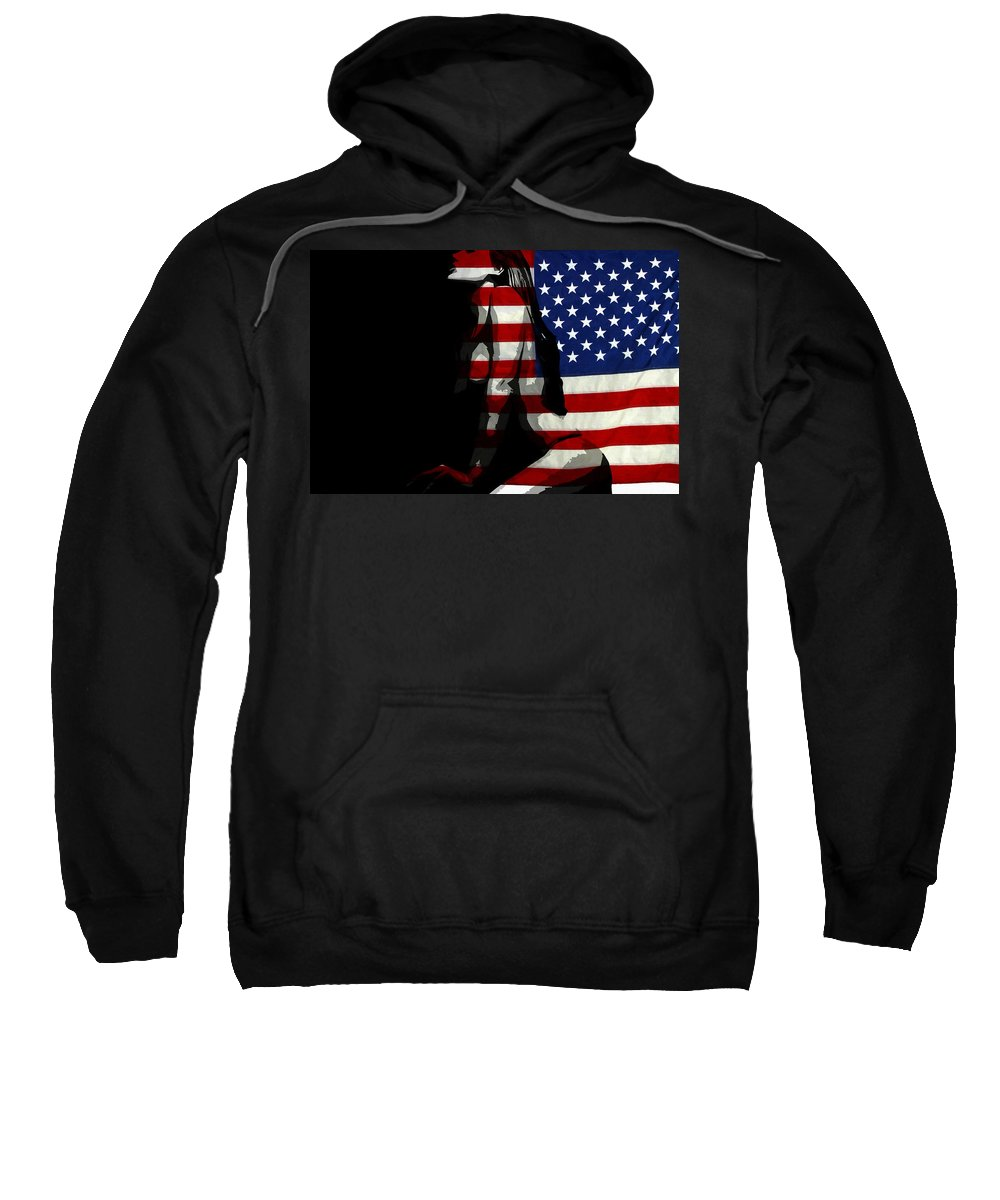 American Sweatshirt featuring the painting An American Woman by Steve K