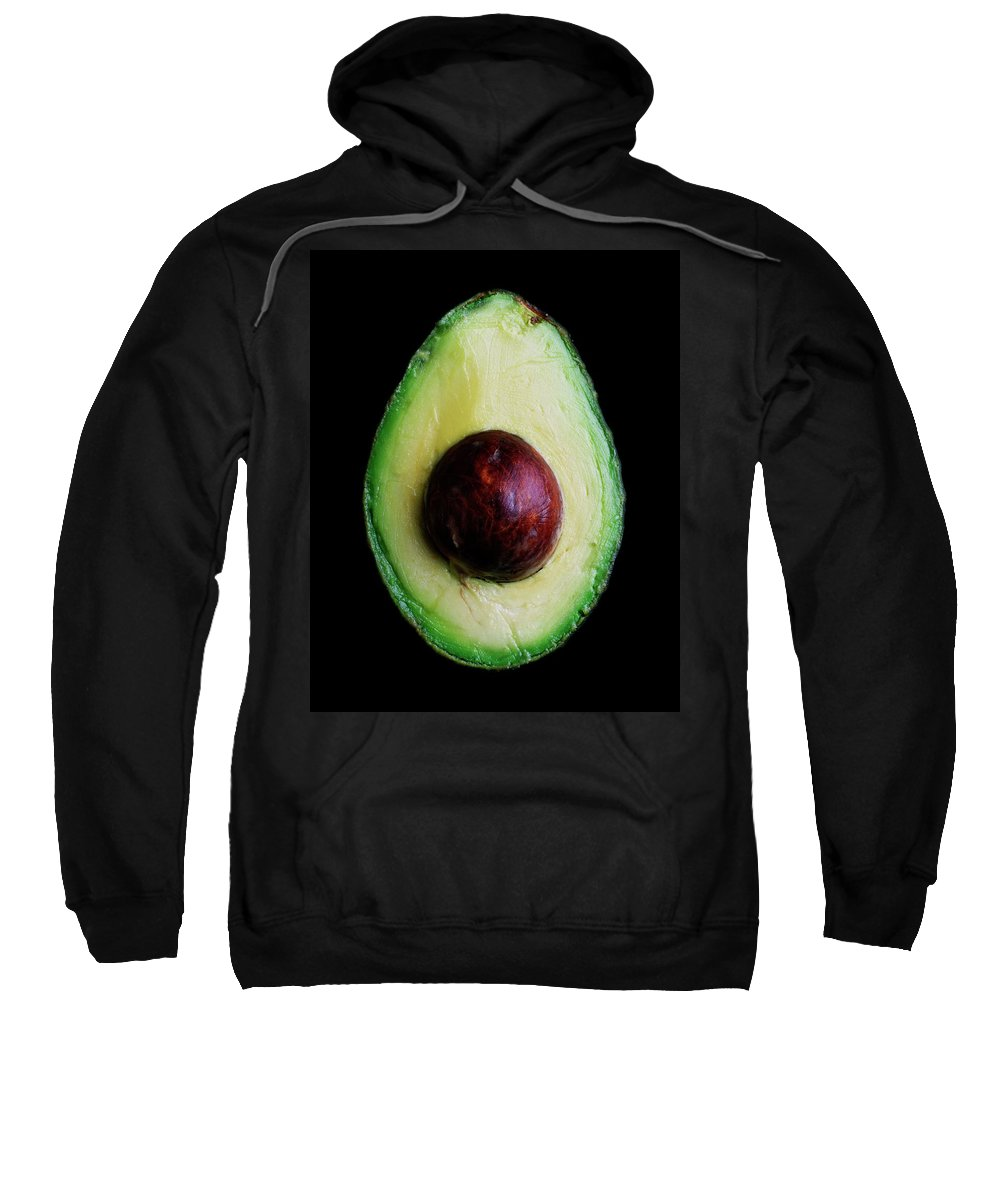 Fruits Sweatshirt featuring the photograph An Avocado by Romulo Yanes