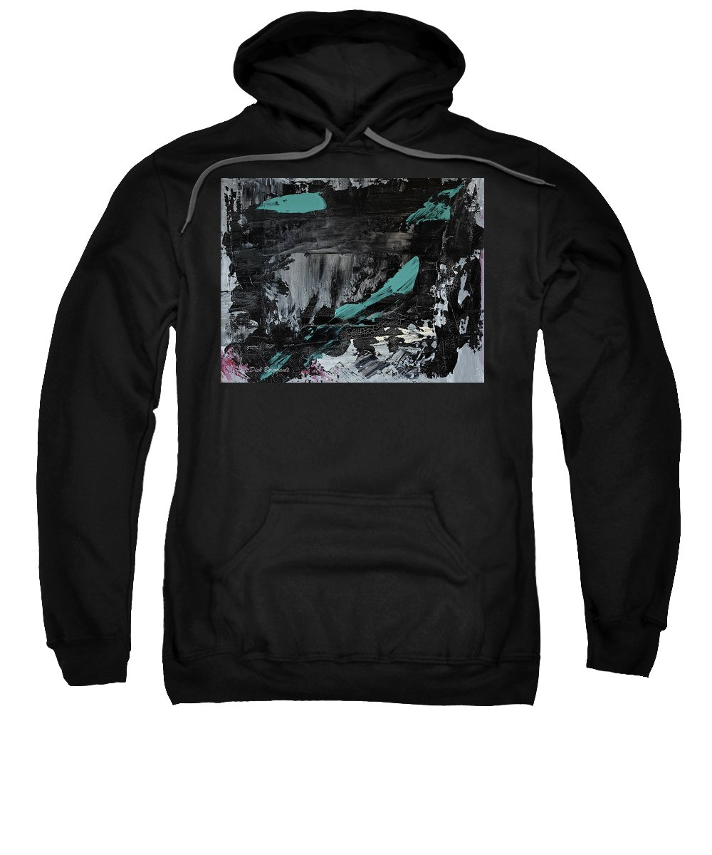 Abstract Sweatshirt featuring the painting Ancient Ritual by Dick Bourgault