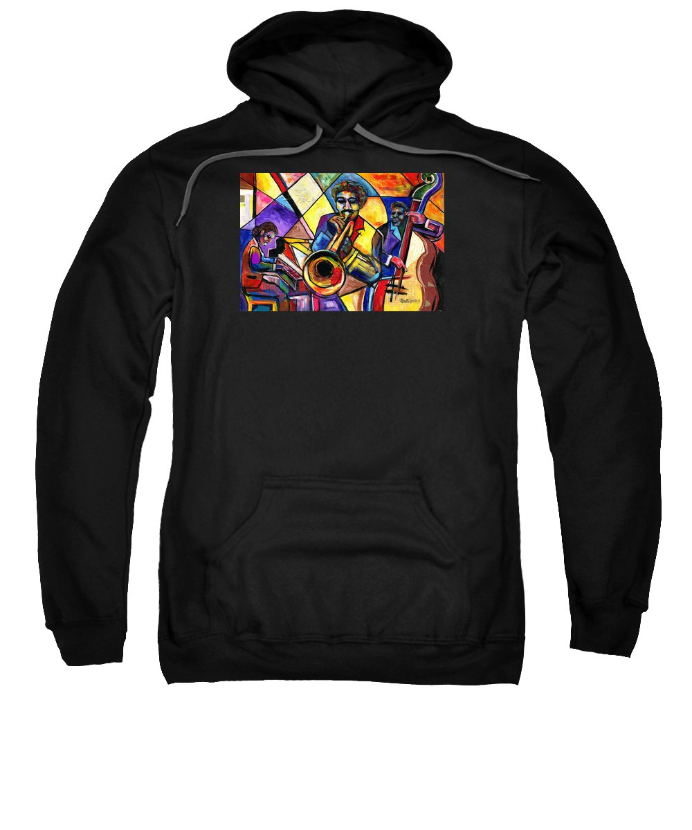 Everett Spruill Sweatshirt featuring the painting And Then There Was Da Blues by Everett Spruill
