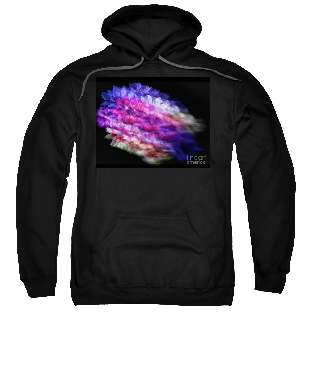 Flowers Sweatshirt featuring the photograph Anemone Abstract by Claudia Kuhn