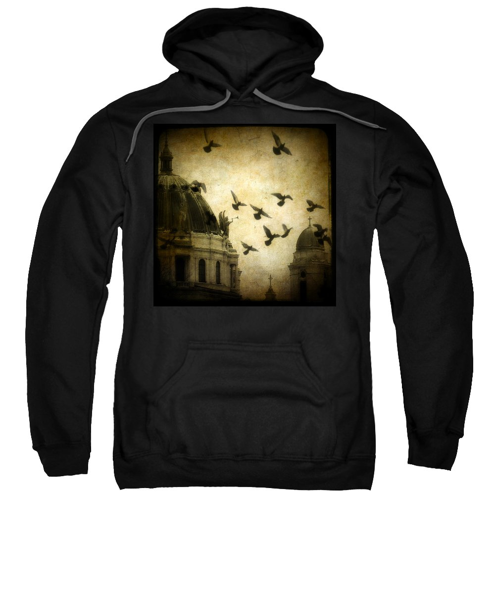 Vintage Colors Sweatshirt featuring the photograph Angel's Melody by Gothicrow Images
