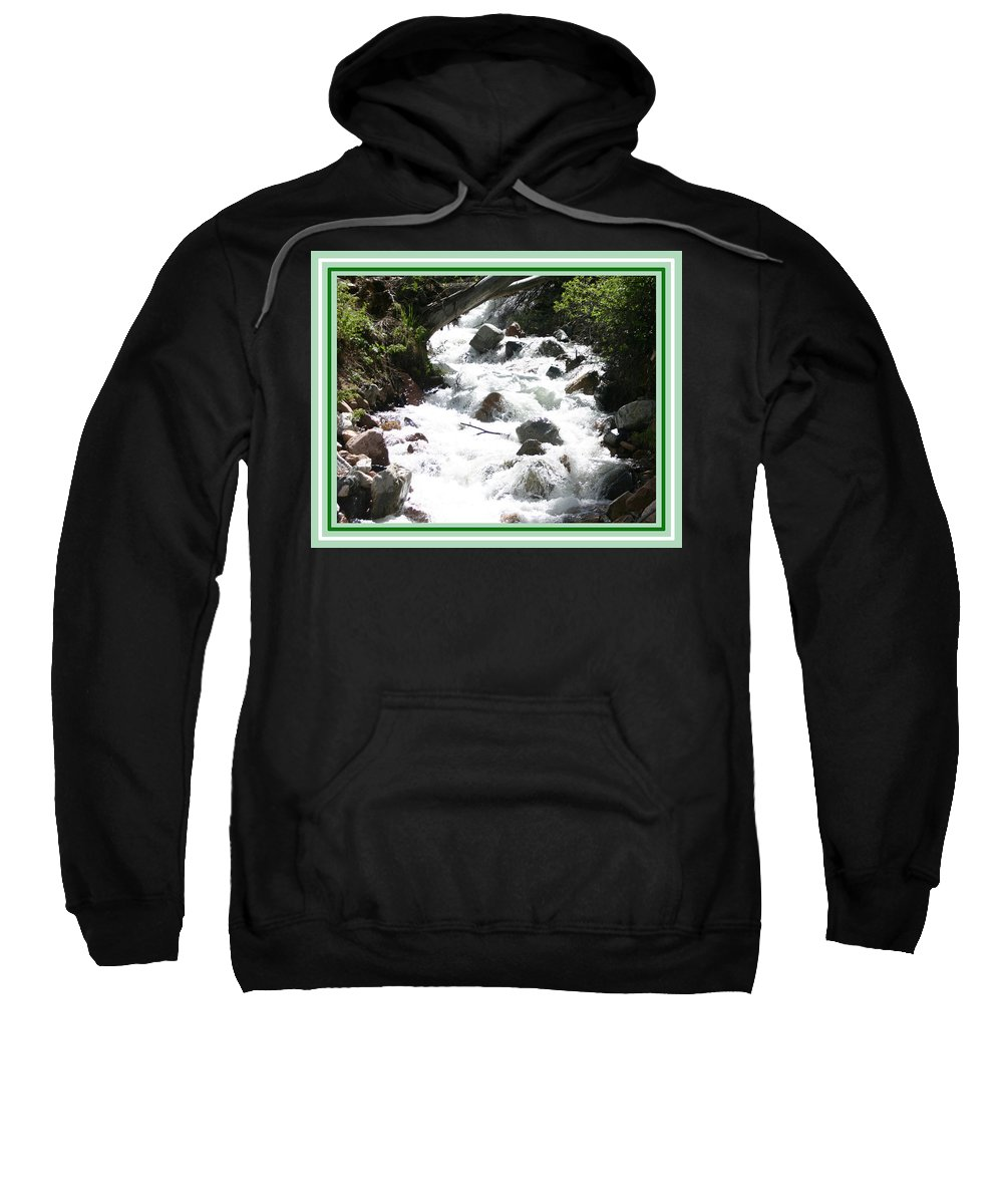 The Animas River Rises High In San Juan Mountains Of Colorado At The Confluence Of The West And North Forks At The Ghost Town Of Animas Forks & Flows South Past The Ghost Towns Of Eureka And Howardsville Sweatshirt featuring the photograph Animas River Southern Colorado by Jack Pumphrey