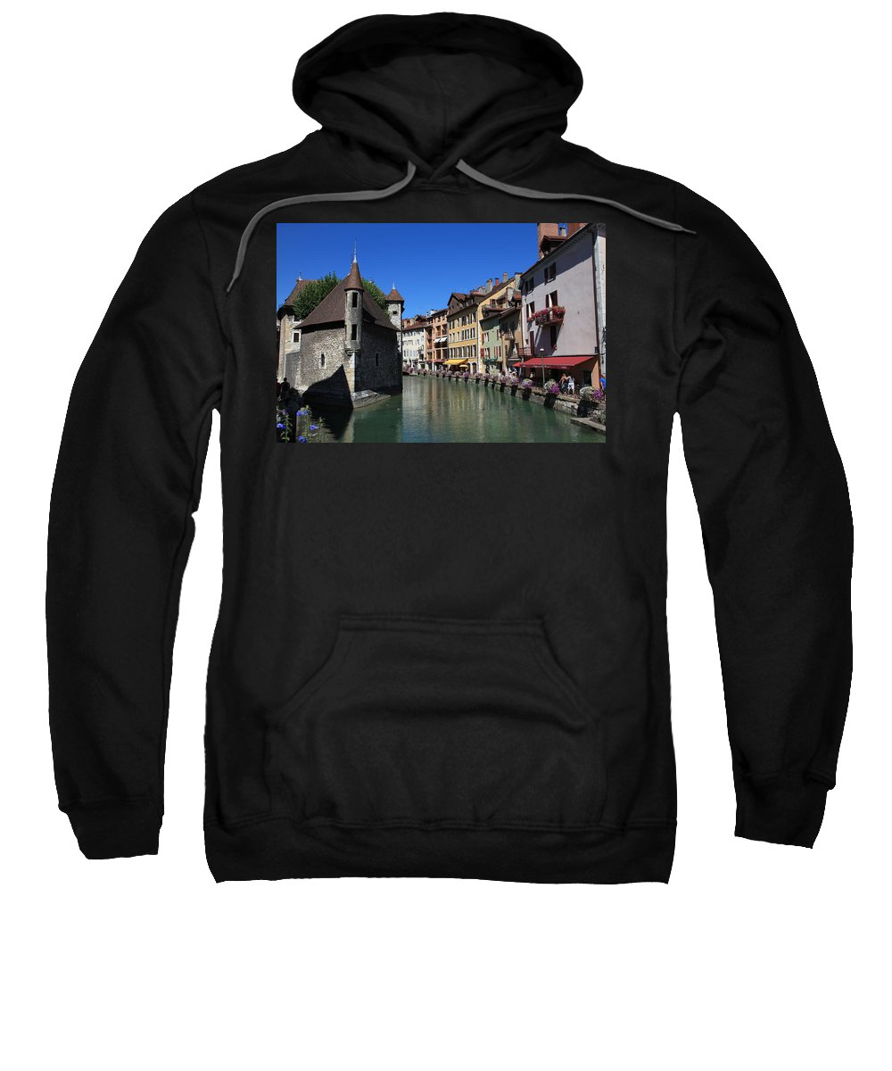 River Sweatshirt featuring the photograph Annecy And Le Thiou by Francesco Scali