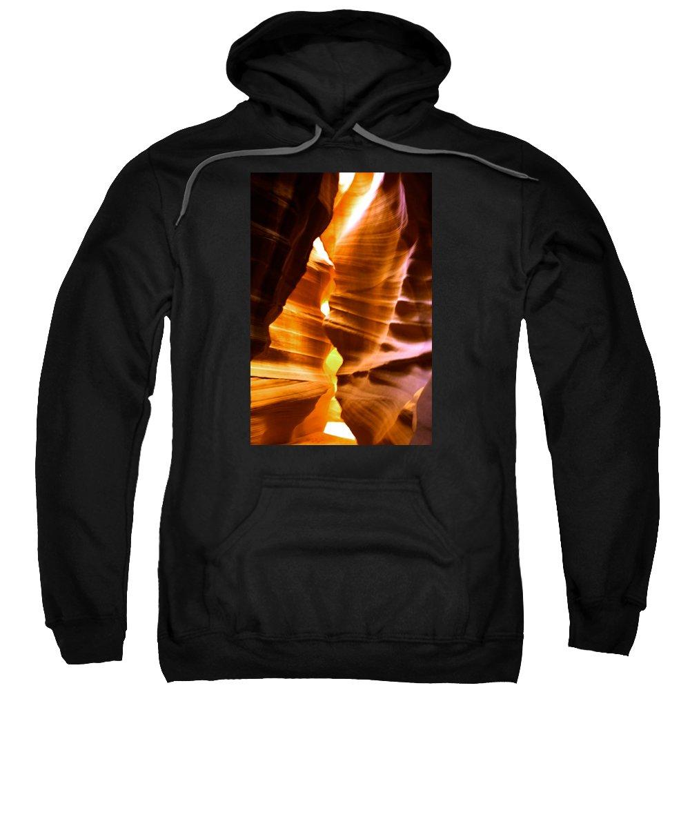 Antelope Canyon Sweatshirt featuring the photograph Antelope Canyon Page Arizona by Aidan Moran