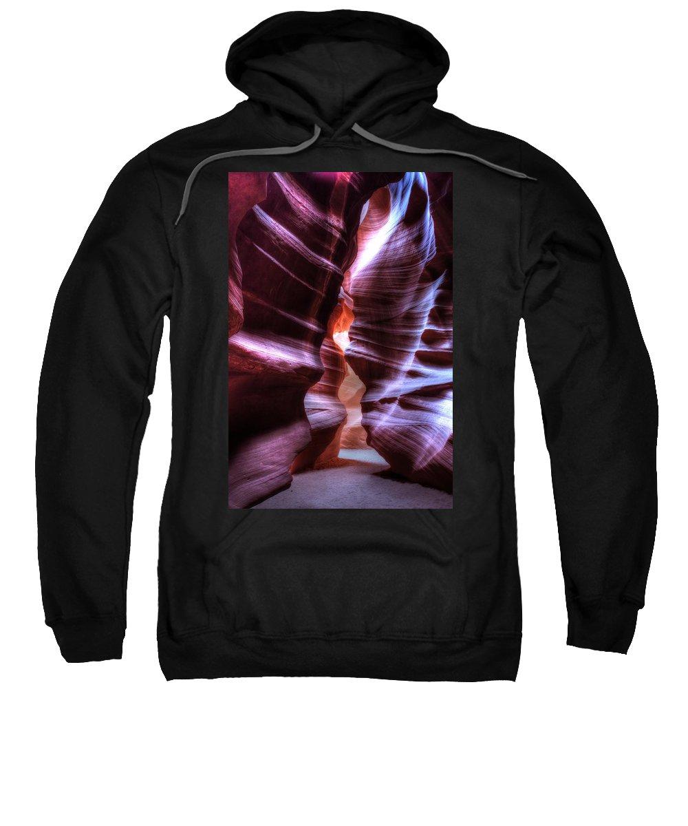 Arizona Photograph Sweatshirt featuring the photograph Antelope Canyon by Jonathan Davison