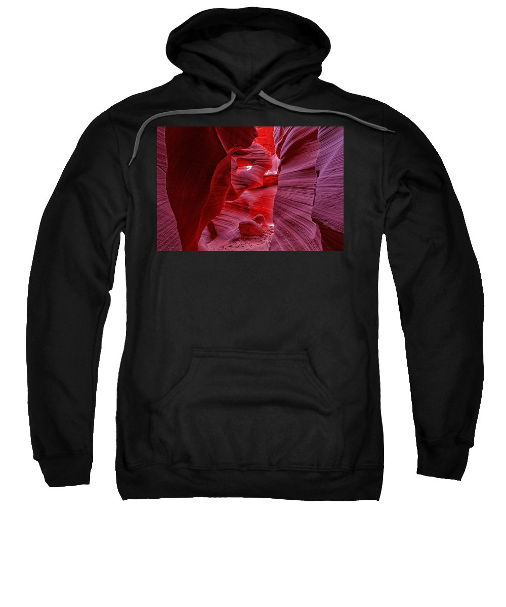 Antelope Canyon Sweatshirt featuring the photograph Antelope Canyon Mummy 2 by Jonathan Davison