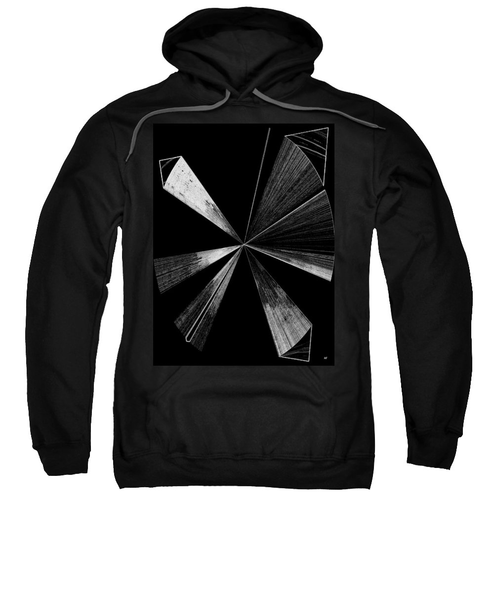 Antenna Sweatshirt featuring the digital art Antenna- Black And White by Will Borden