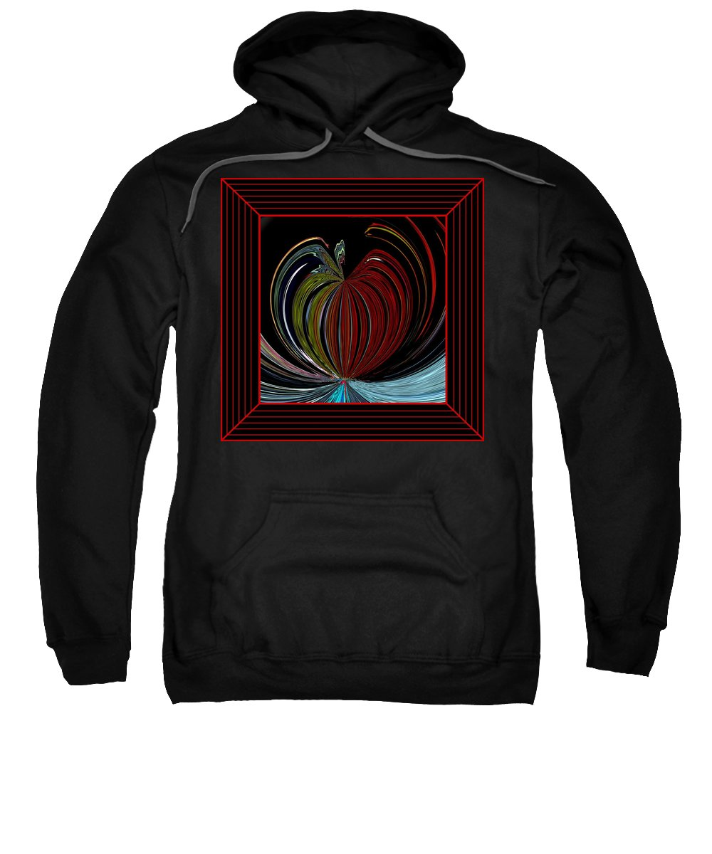 Digital Art Sweatshirt featuring the photograph Apple Of My Eye In Frame by Marian Bell