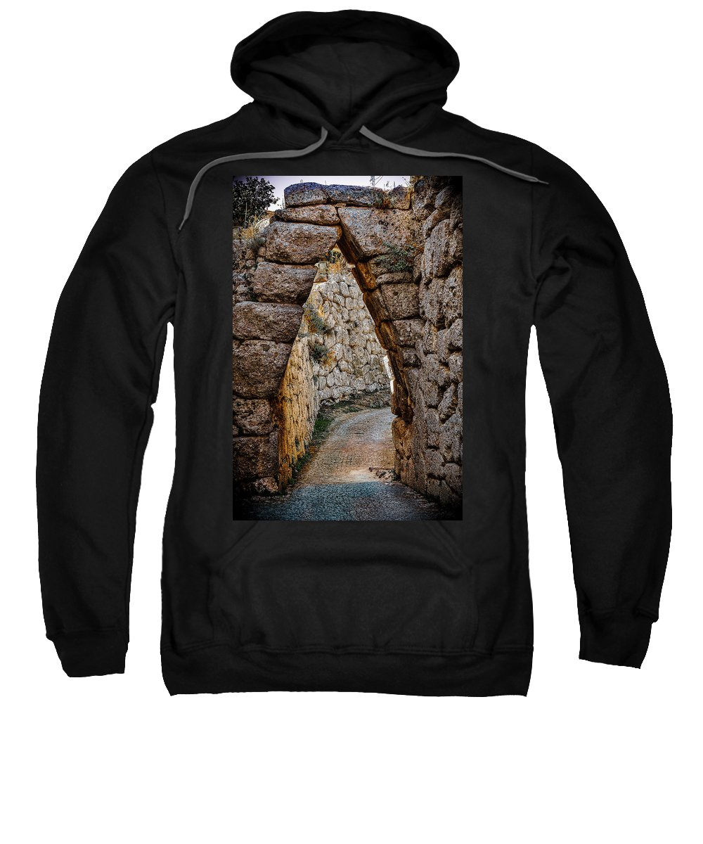 Medieval Sweatshirt featuring the photograph Arched Medieval Gate by Dany Lison