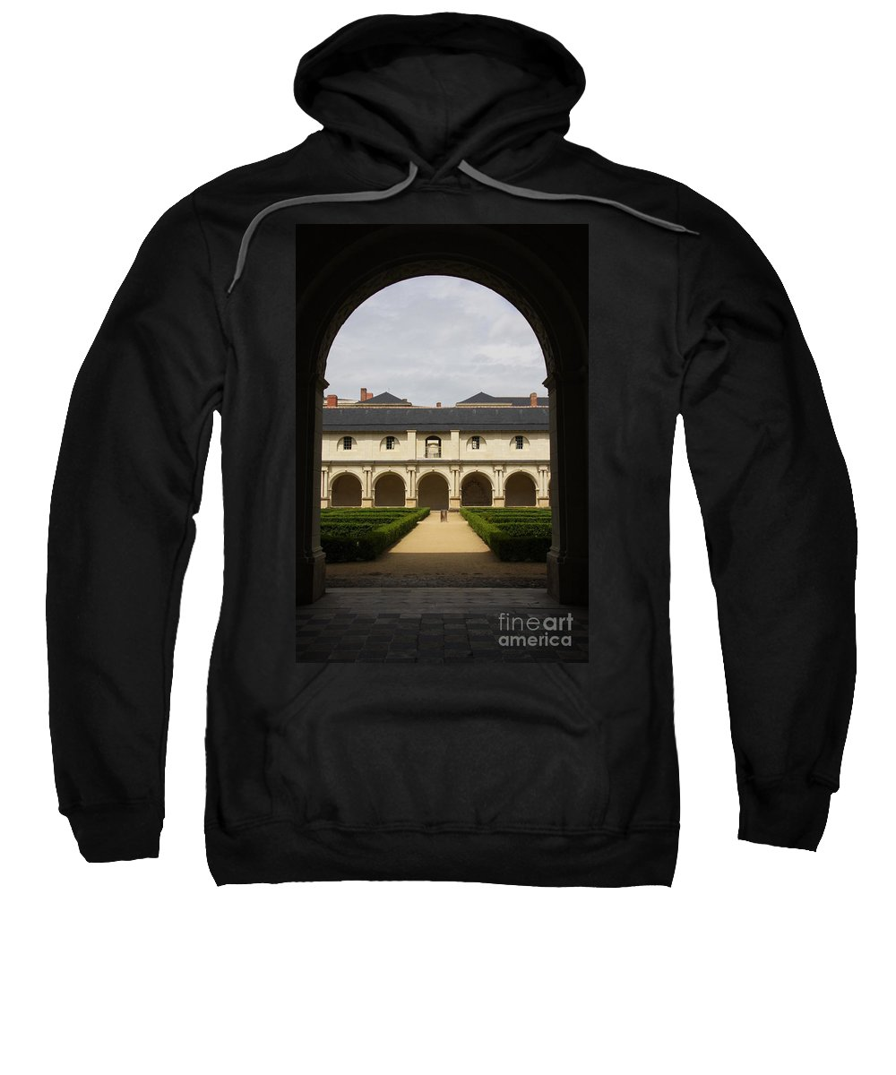 Doorway Sweatshirt featuring the photograph Archview To The Courtyard - France by Christiane Schulze Art And Photography