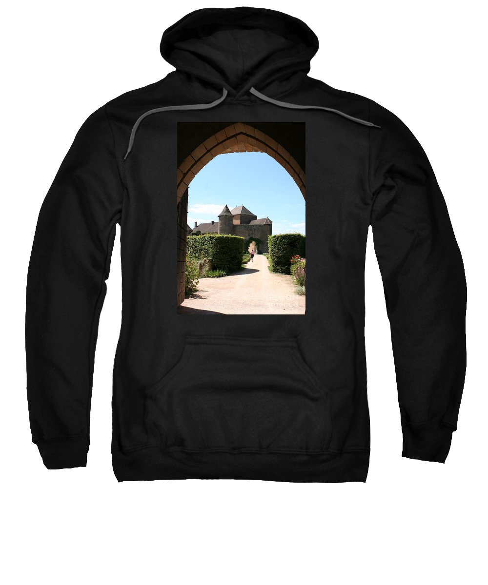 Castle Sweatshirt featuring the photograph Archway Chateau Of Berze by Christiane Schulze Art And Photography