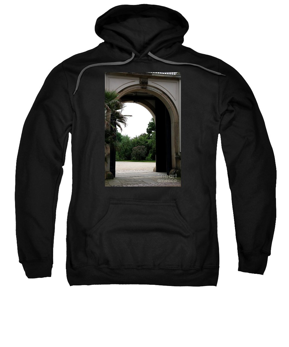 Archway Sweatshirt featuring the photograph Archway Pillnitz Castle by Christiane Schulze Art And Photography