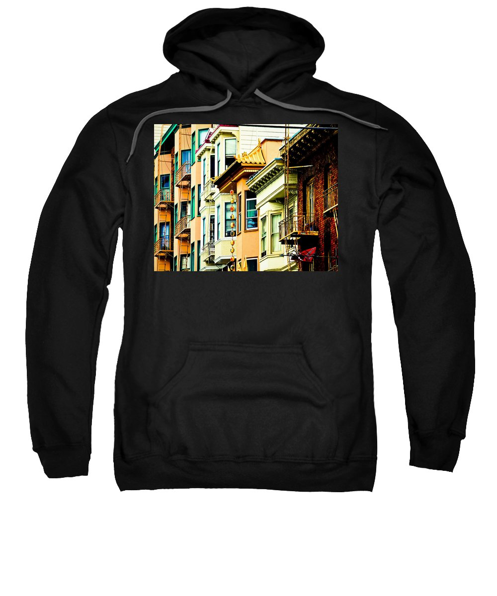 Streets Of San Francisco Sweatshirt featuring the photograph Asia Town by Digital Kulprits
