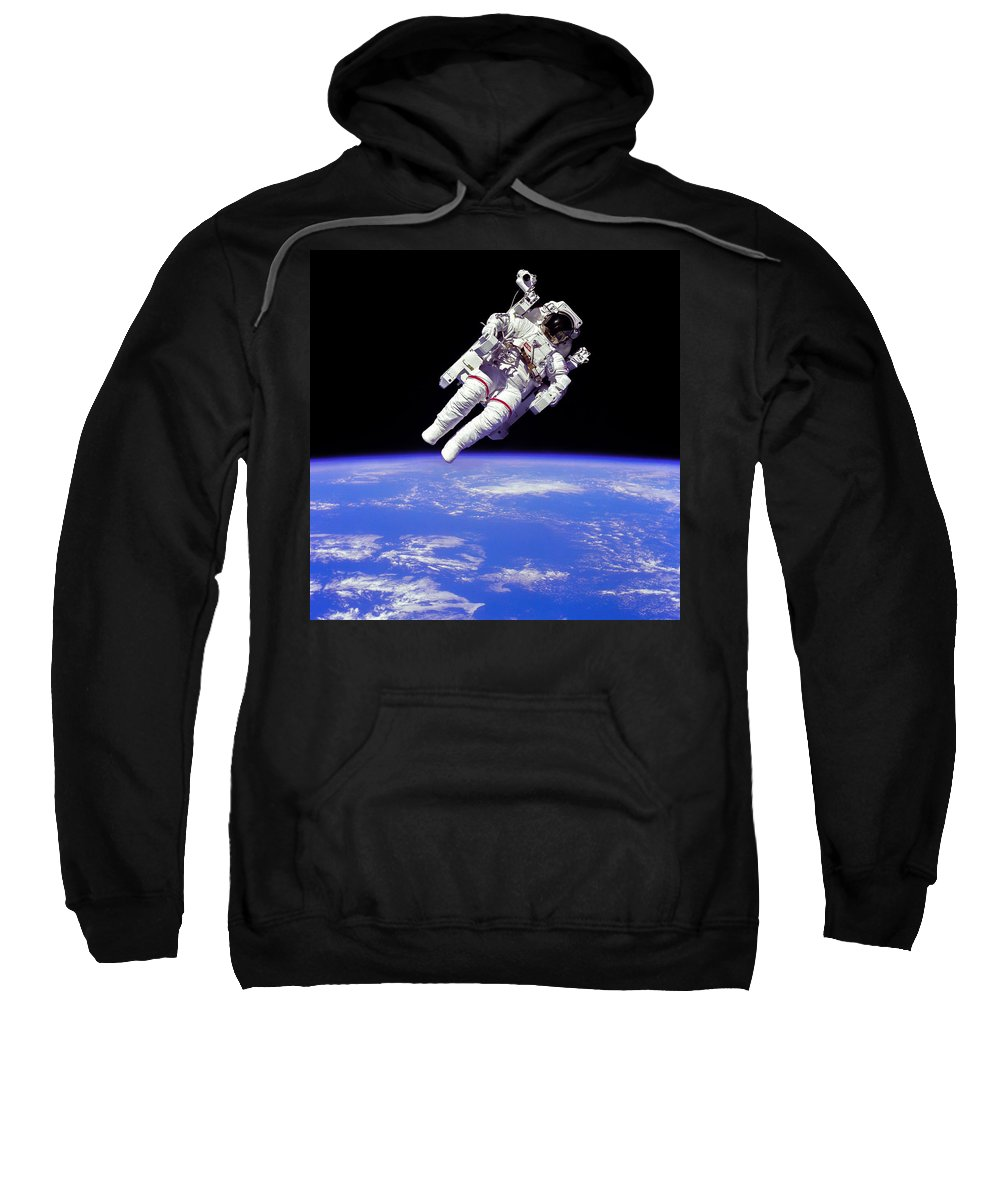 Space Shuttle Sweatshirt featuring the photograph Astronaut In Space by Chad Rowe