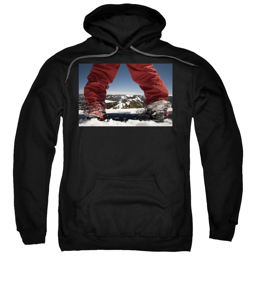 Horizontal Sweatshirt featuring the photograph At The Top Of The Mountain by Jon Paciaroni