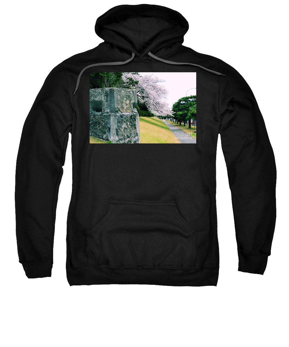 Cherry Sweatshirt featuring the photograph Atsugi Pillbox Walk I1 by Jay Mann