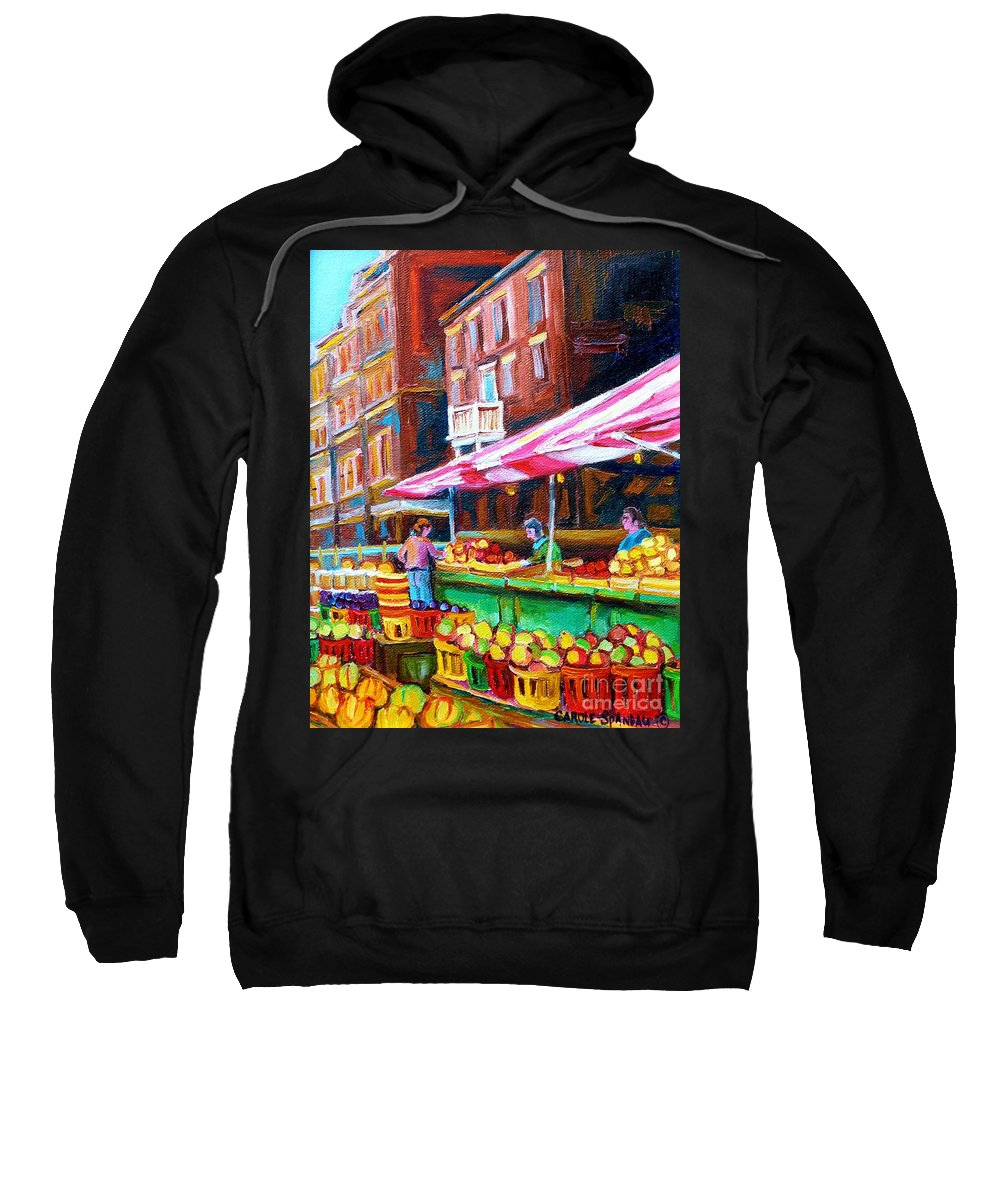 Atwater Market Sweatshirt featuring the painting Atwater Market  by Carole Spandau
