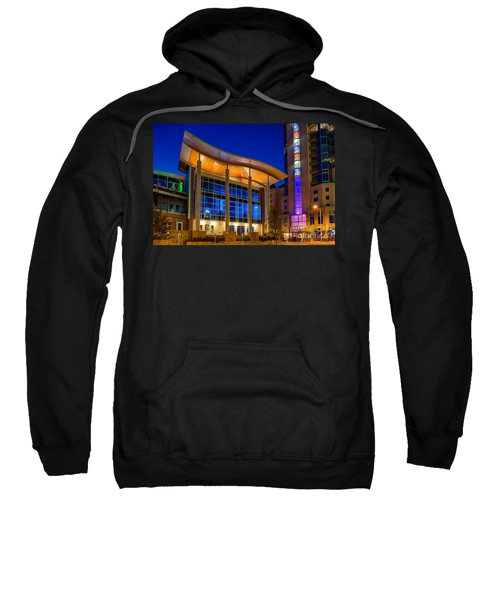 Austin Tx Sweatshirt featuring the photograph Austin Music Hall by Tod and Cynthia Grubbs