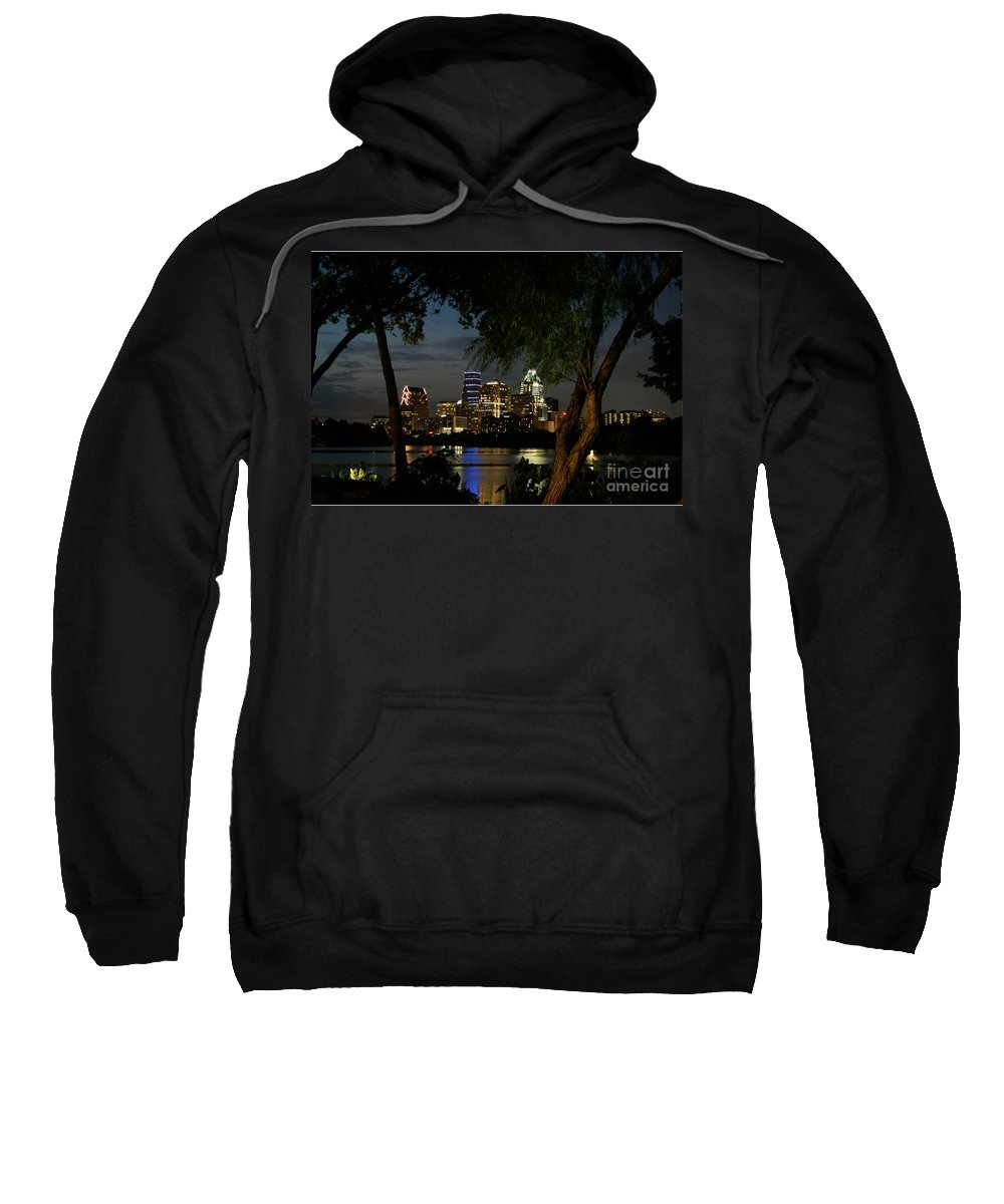 Austin Sweatshirt featuring the photograph Austin Wooded Skyline by Randy Smith