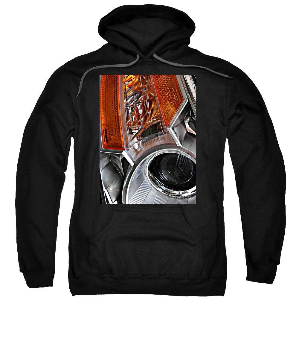 Headlight Sweatshirt featuring the photograph Auto Headlight 25 by Sarah Loft