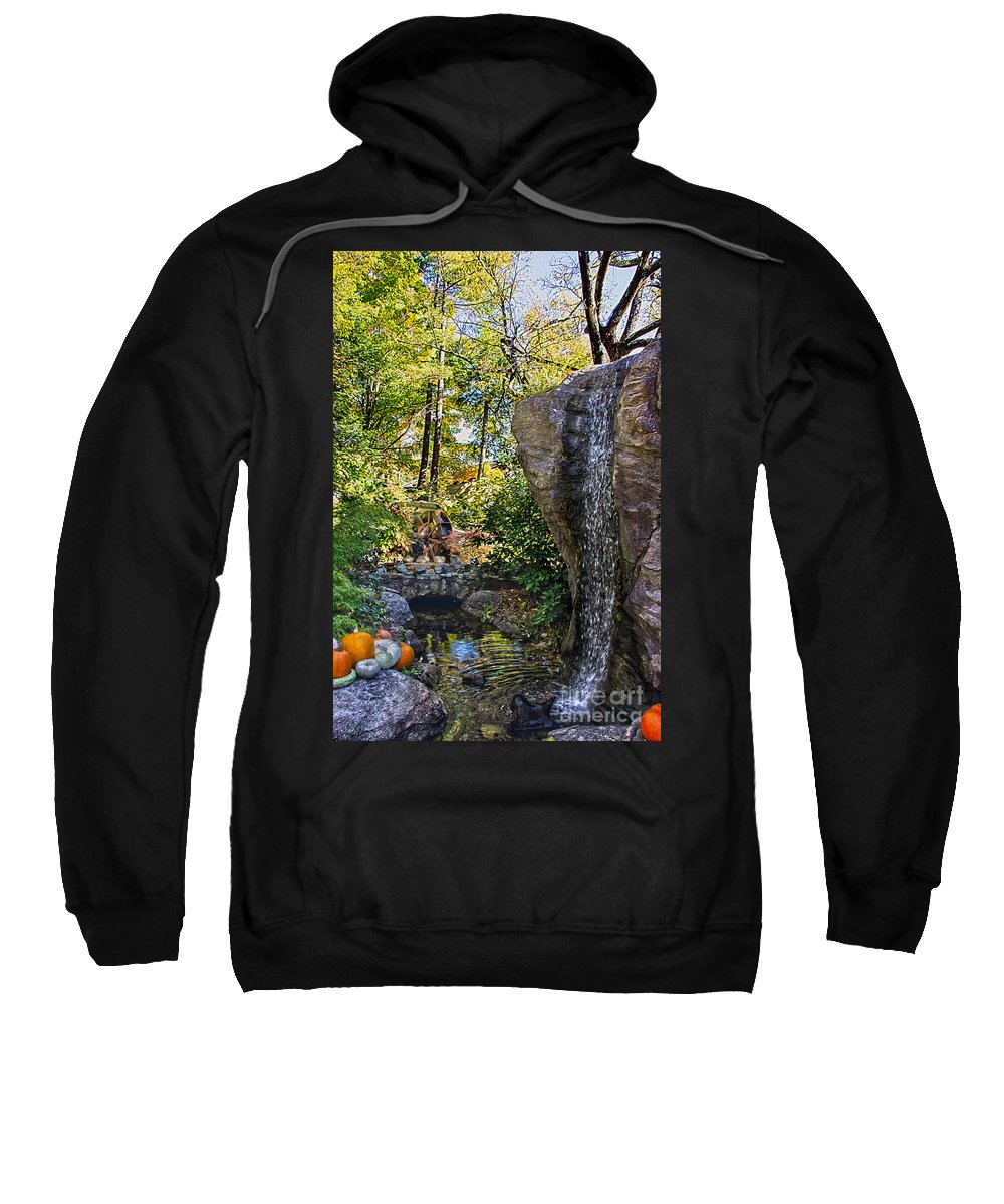 Relax Sweatshirt featuring the photograph Autumn At The Waterfall by Tom Gari Gallery-Three-Photography