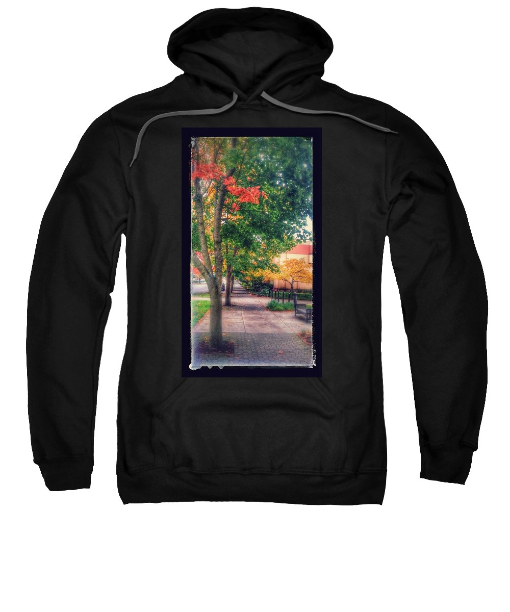 Downtown Vancouver Washington Sweatshirt featuring the photograph Autumn In Vancouver Washington by Melissa Coffield