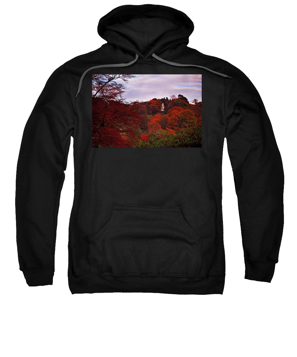 Paogoda Sweatshirt featuring the photograph Autumn Pagoda by Beverly Cash