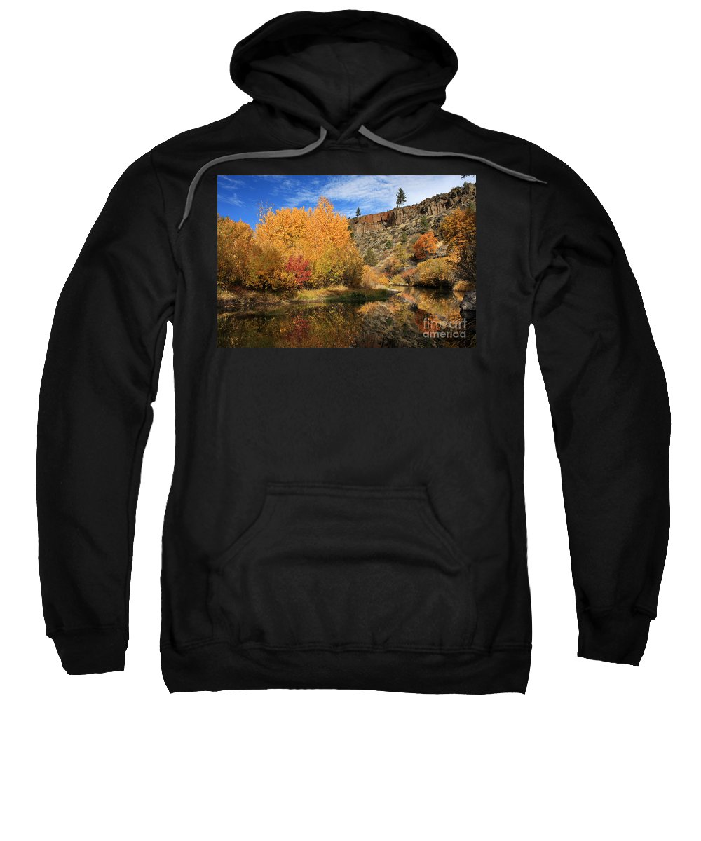 Landscape Sweatshirt featuring the photograph Autumn Reflections In The Susan River Canyon by James Eddy