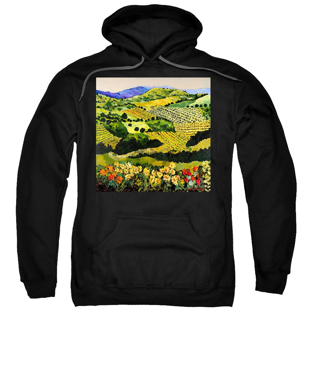 Landscape Sweatshirt featuring the painting Autumn Remembered by Allan P Friedlander