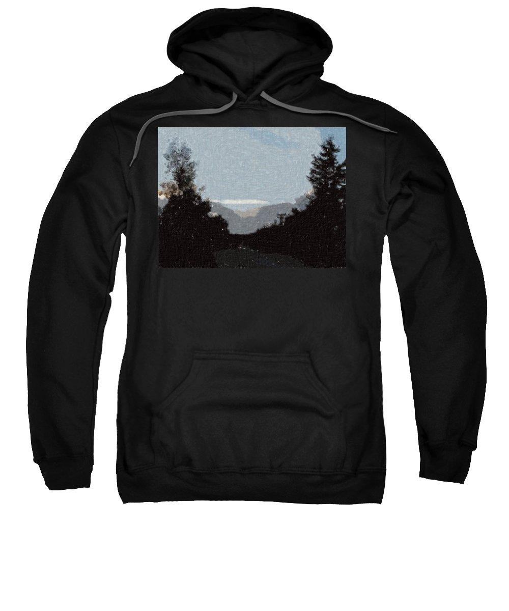 Autumn Sweatshirt featuring the painting Autumn Roads by Sergey Bezhinets